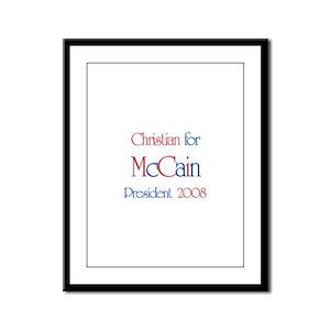 Christian for McCain 2008  Framed Panel Print