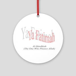 O' Fatimah Ornament (Round)