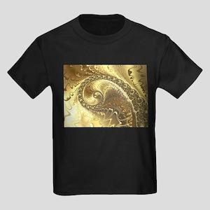 Golden Fractal Swirl T-Shirt