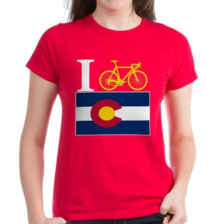 I BIKE Colorado Women's Dark T-Shirt