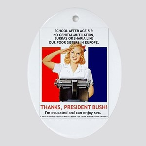 Thanks, President Bush! Keepsake (Oval)