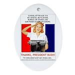 Thanks, President Bush! Keepsake (Oval)
