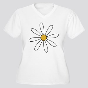 Daisy Women's Plus Size V-Neck T-Shirt