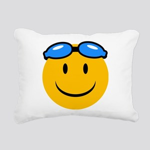 swimming Rectangular Canvas Pillow
