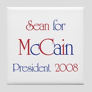 Sean for McCain 2008 Tile Coaster
