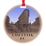 Vancouver Gastown Souvenir Round Ornament