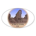 Vancouver Gastown Souvenir Sticker (Oval 50 pk)