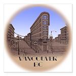 """Vancouver Gastown Souven Square Car Magnet 3"""" x 3"""""""
