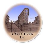 Vancouver Gastown Souvenir Round Car Magnet