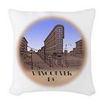 Vancouver Gastown Souvenir Woven Throw Pillow