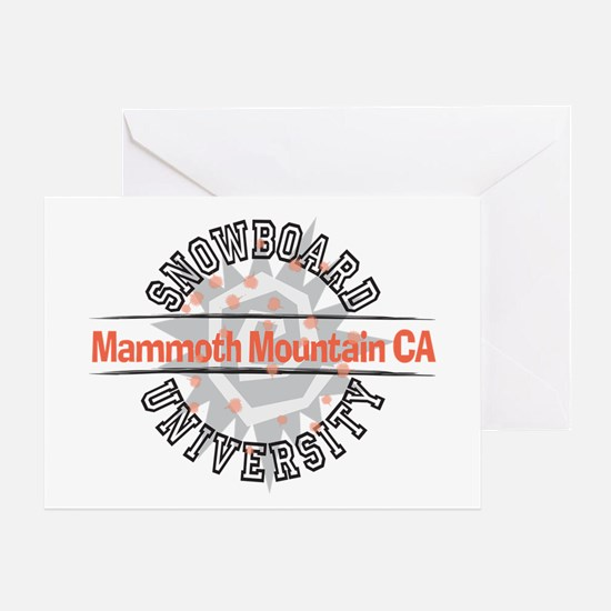 Snowboard Mammoth Mt. CA Greeting Card