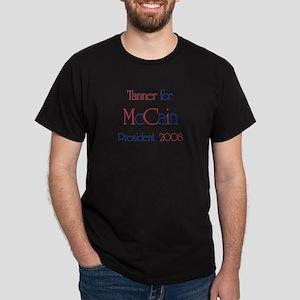 Tanner for McCain 2008 Dark T-Shirt