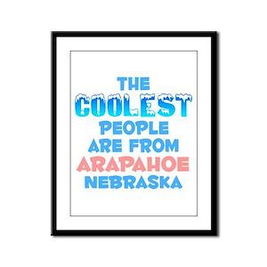 Coolest: Arapahoe, NE Framed Panel Print