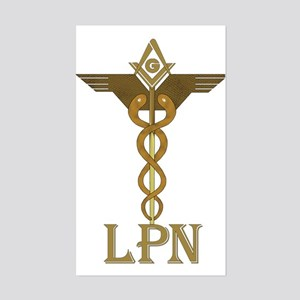 Masonic LPN Symbol Rectangle Sticker