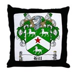 Hill Family Crest Throw Pillow