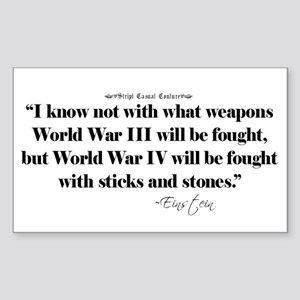 War Quote Rectangle Sticker