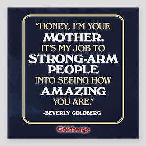 "Beverly Goldberg Mom Quo Square Car Magnet 3"" x 3"""