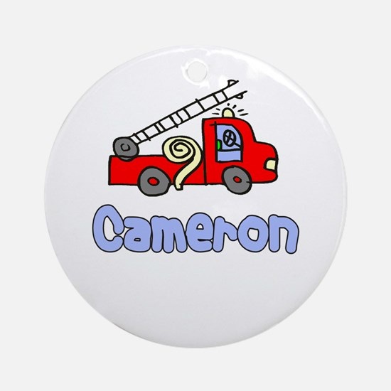 Cameron Ornament (Round)