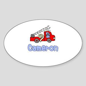 Cameron Oval Sticker