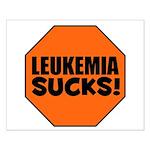 Leukemia Sucks Small Poster