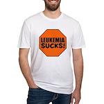 Leukemia Sucks Fitted T-Shirt