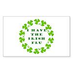 Irish Flu Rectangle Sticker