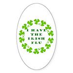 Irish Flu Oval Sticker