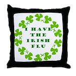 Irish Flu Throw Pillow