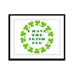 Irish Flu Framed Panel Print