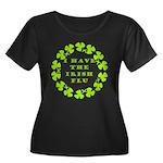 Irish Flu Women's Plus Size Scoop Neck Dark T-Shir