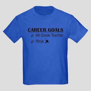 4th Grade Tchr Career Goals Kids Dark T-Shirt