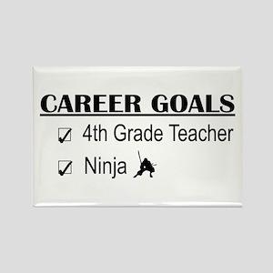 4th Grade Tchr Career Goals Rectangle Magnet