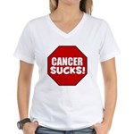Cancer Sucks Women's V-Neck T-Shirt