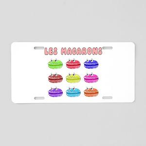 Les Macarons Cute Cartoon Aluminum License Plate
