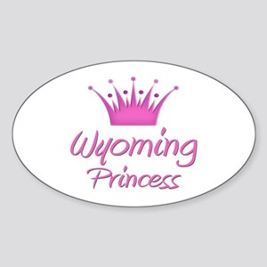 Wyoming Princess Oval Sticker