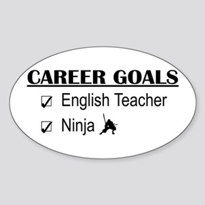 English Teacher Career Goals Oval Sticker