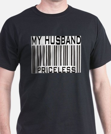 My Husband Priceless Barcode Ash Grey T-Shirt
