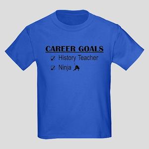 History Tchr Career Goals Kids Dark T-Shirt