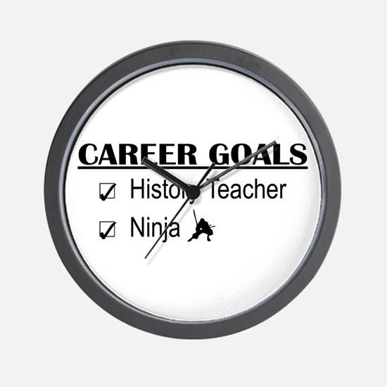 History Tchr Career Goals Wall Clock