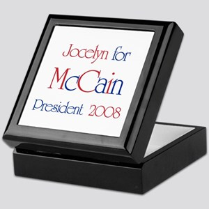 Jocelyn for McCain 2008 Keepsake Box
