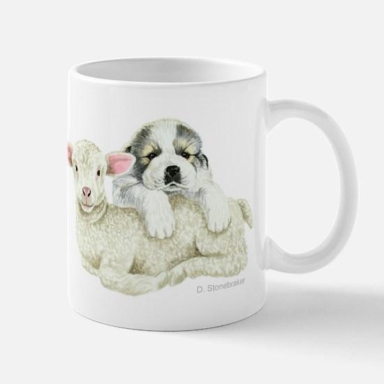 Great Pyr Pup and Lamb Mug
