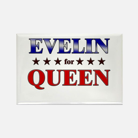 EVELIN for queen Rectangle Magnet