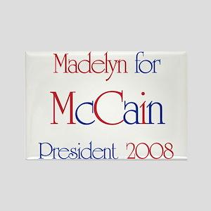 Madelyn for McCain 2008 Rectangle Magnet
