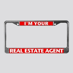I'M YOUR AGENT (Red) License Plate Frame