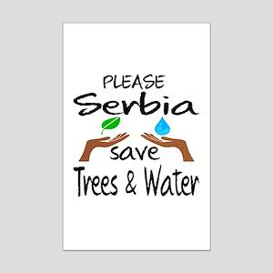 Please Serbia Save Trees & Water Mini Poster Print
