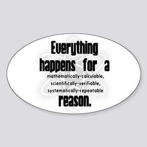"""For a Reason"" Oval Sticker"