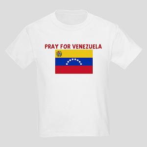 PRAY FOR VENEZUELA Kids Light T-Shirt