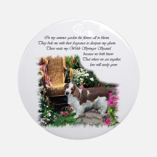 Welsh Springer Spaniel Ornament (Round)