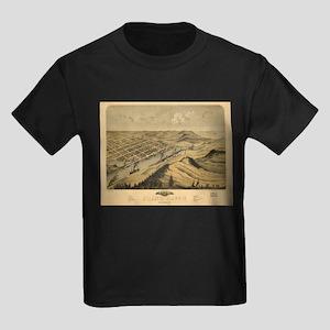 Vintage Map of Grand Haven MI (1868) T-Shirt