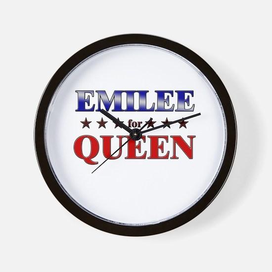 EMILEE for queen Wall Clock